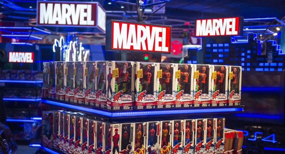 Zboží Marvelu ve výloze