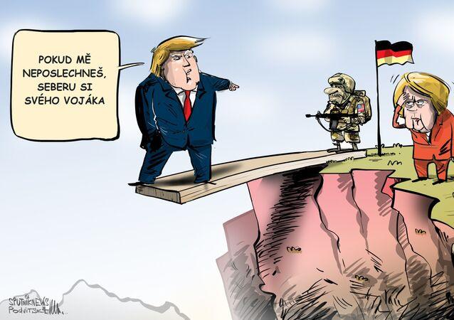 Americká vojska se nacházejí v Německu pro zachování transatlantické bezpečnosti