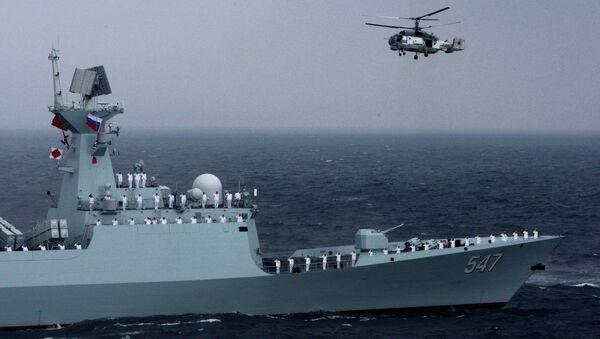 Cvičení ruského a čínského vojenského námořnictva Mořská součinnost 2015 - Sputnik Česká republika