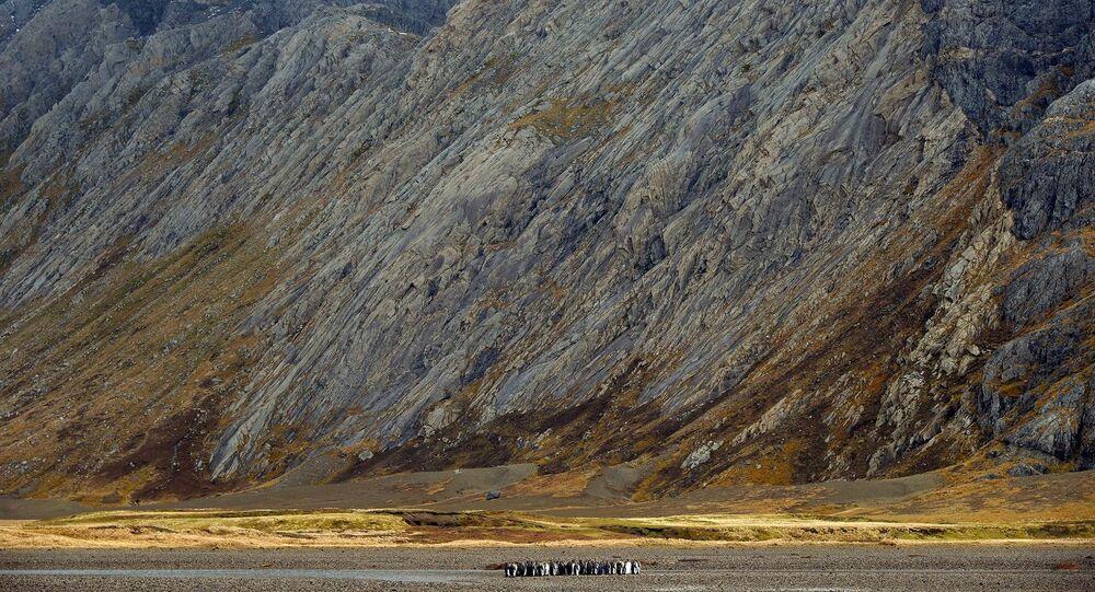 Pohled na souostroví Kerguelenovy ostrovy