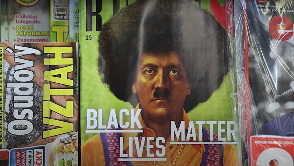 """""""V USA by vám zapálili redakci."""" Hitler jako černoch na obálce časopisu Reflex vyvolal rozporuplnou reakci - Sputnik Česká republika"""