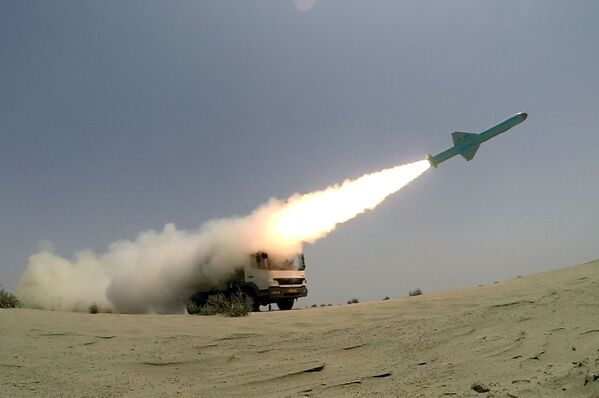 Start íránské rakety s plochou dráhou letu - Sputnik Česká republika
