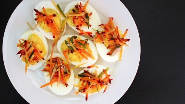 Vařená vejce na talíři - Sputnik Česká republika