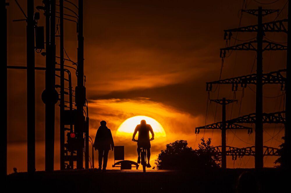 Západ slunce v Moskvě