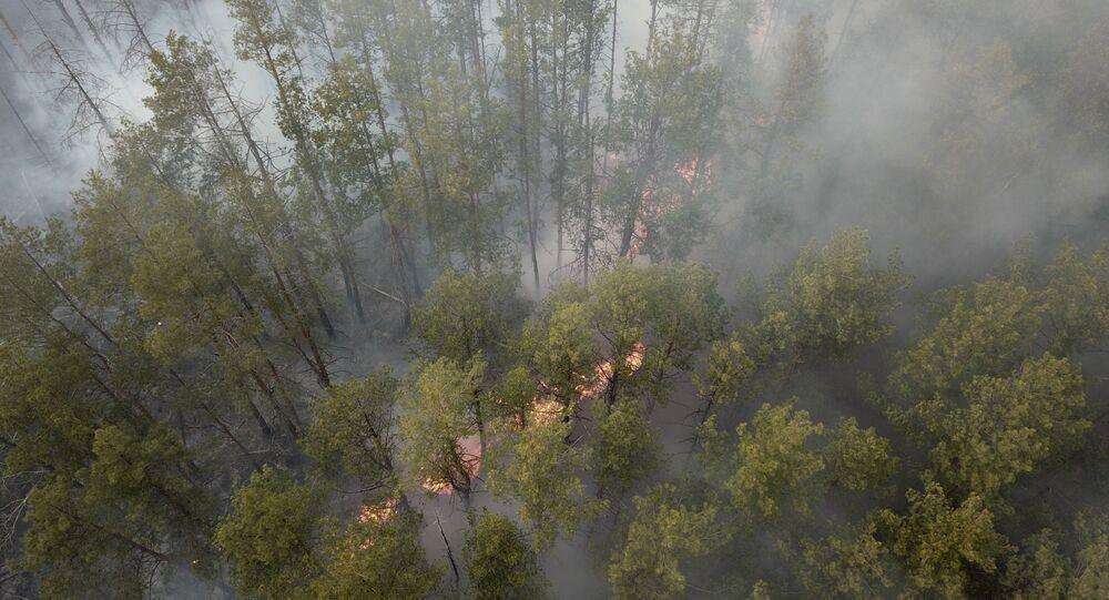 Požár v uzavřené černobylské zóně