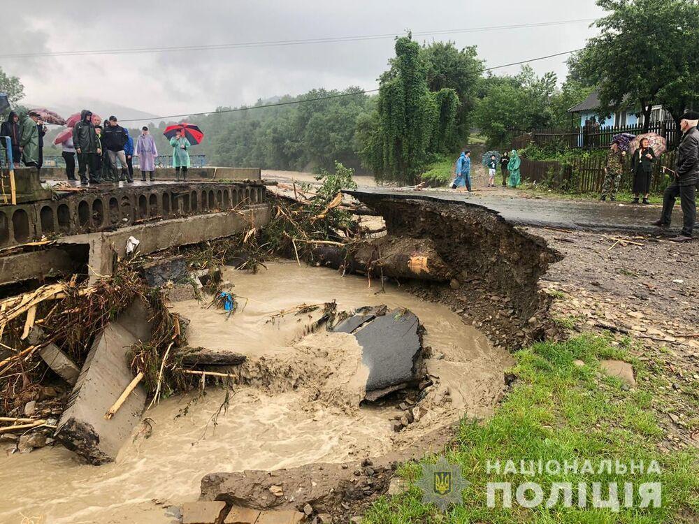Následky záplav v Ivanofrankivské oblasti, Ukrajina