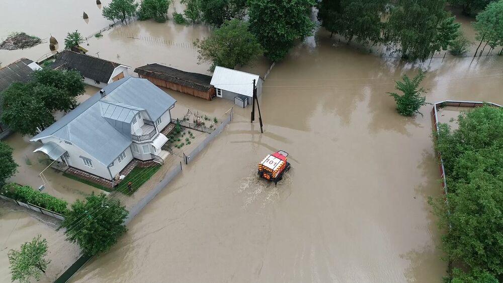 Následky záplav v Černovické oblasti, Ukrajina