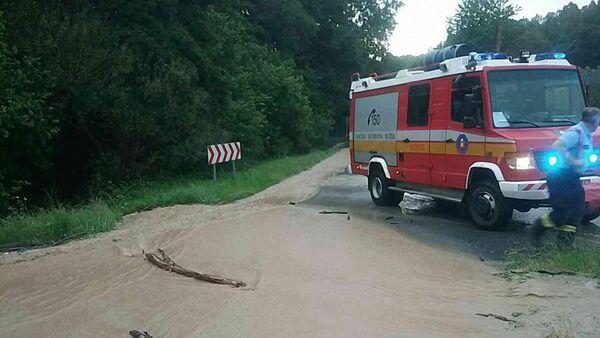 Последствия сильных дождей в Словакии - Sputnik Česká republika