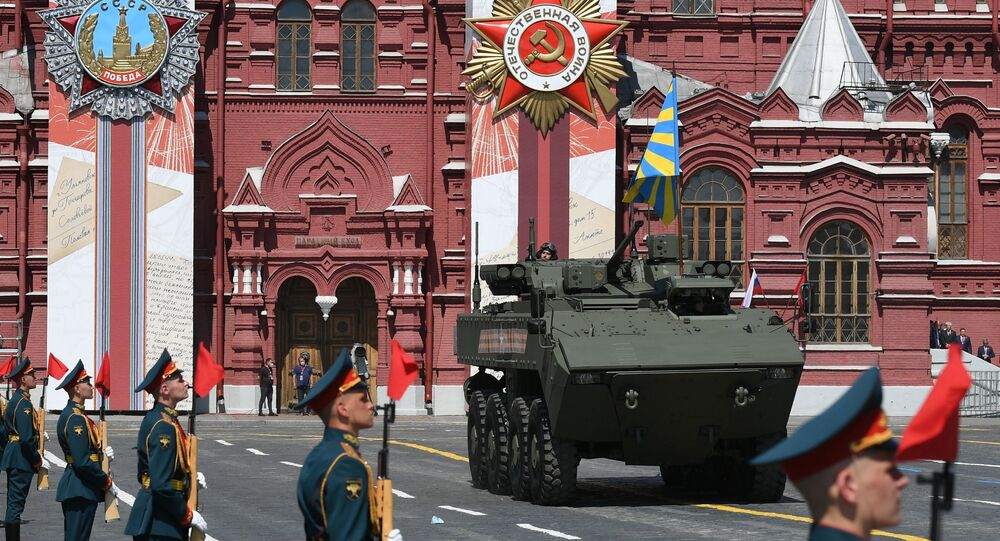 Vojenská přehlídka na Rudém náměstí 24.června 2020
