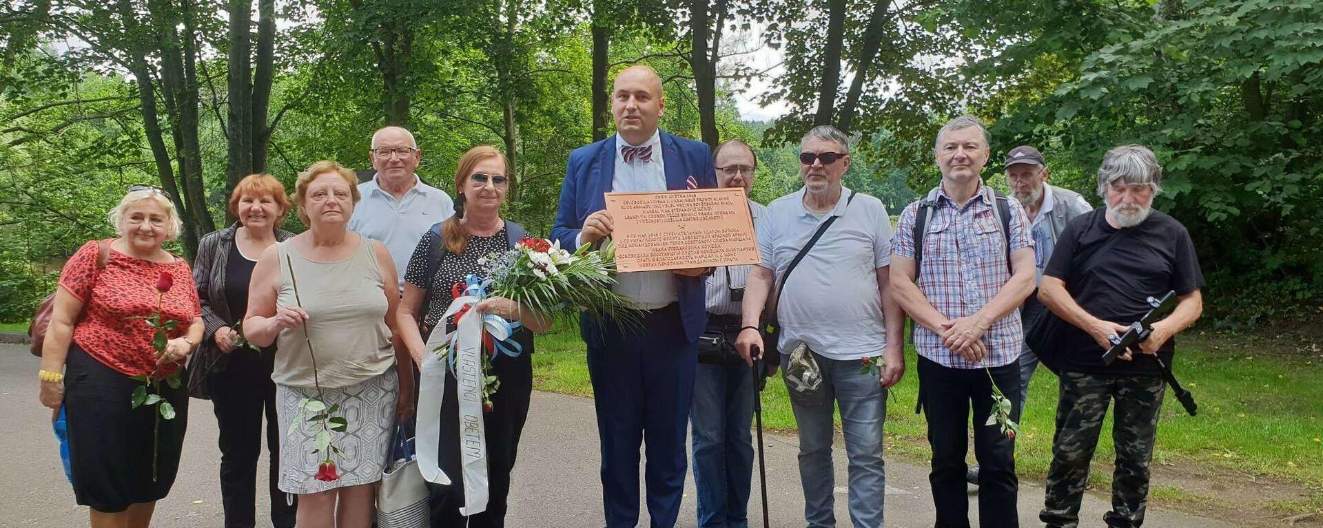 V Ležácích se uskutečnil pietní akt k 78. výročí vyhlazení osady - Sputnik Česká republika, 1920, 29.06.2020