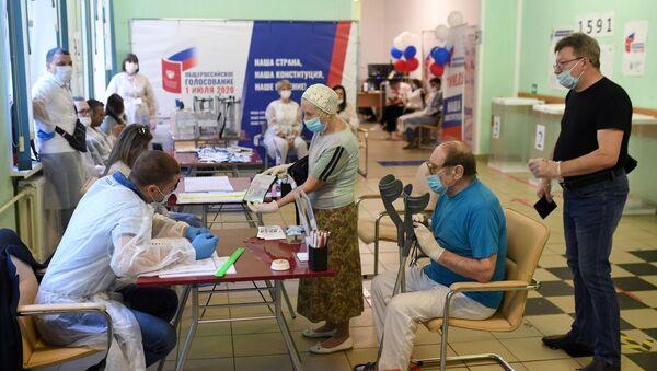 Hlasování o změnách Ústavy Ruské federace v Moskvě - Sputnik Česká republika