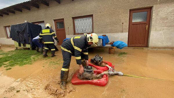 Čtvrteční zásah hasičů na Olomoucku - Sputnik Česká republika