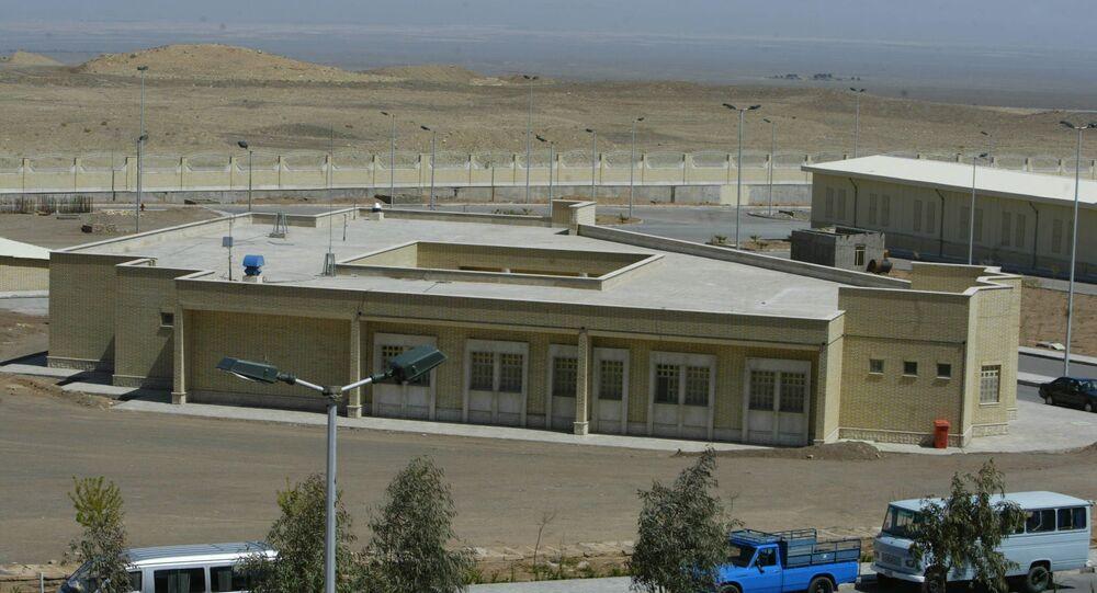 Íránská jaderná elektrárna v Natanzu.