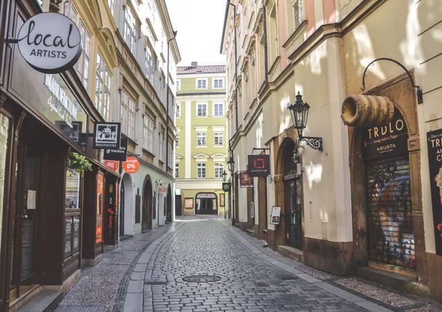 Pražská ulice během karantény