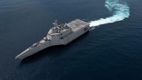 Pobřežní bitevní loď třídy Independence Gabrielle Giffords - Sputnik Česká republika