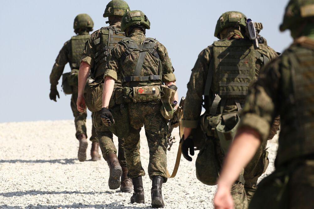 Soutěž speciálních jednotek ruských výsadkových vojsk na jihu Ruska