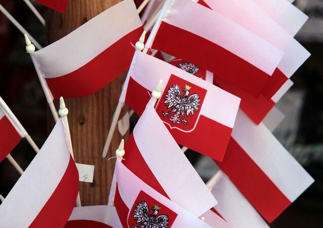 Polské vlaječky. Ilustrační foto