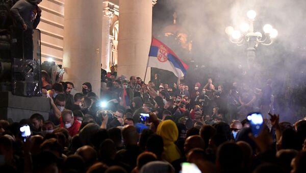 Noční nepokoje v Bělehradu - Sputnik Česká republika