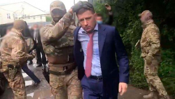 Gubernátor Chabarovského kraje Sergeje Furgala při zadržení - Sputnik Česká republika