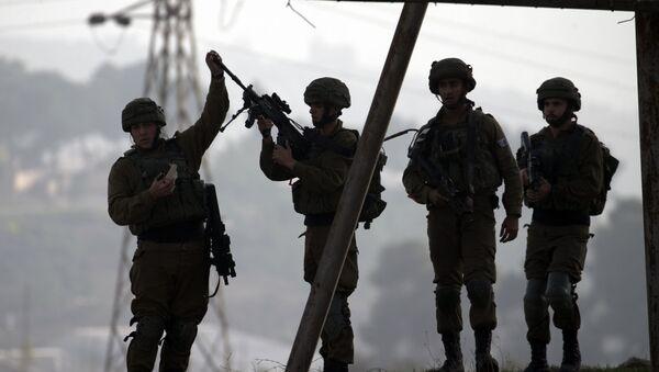 Izraelští vojáci na Západním břehu Jordánu - Sputnik Česká republika