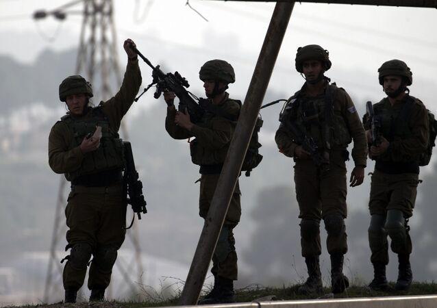 Izraelští vojáci na Západním břehu Jordánu