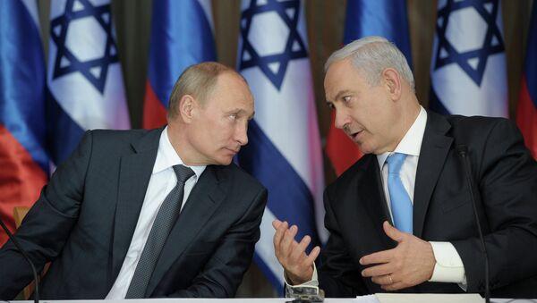 Benjamin Netanjahu a Vladimir Putin - Sputnik Česká republika