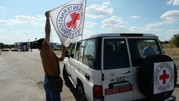 Vůz Mezinárodního červeného kříže - Sputnik Česká republika