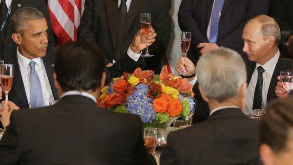 Rozhovor Obamy a Putina se uskutečnil v rámci Valného shromáždění OSN v New Yorku, trval půldruhé hodiny místo plánovaných 50 minut. Tato jednání ovšem nepřinesla průlom v řešení ostrých regionálních problémů, znamenala ale, že došlo k obnovení dialogu na nejvyšší úrovni - Sputnik Česká republika