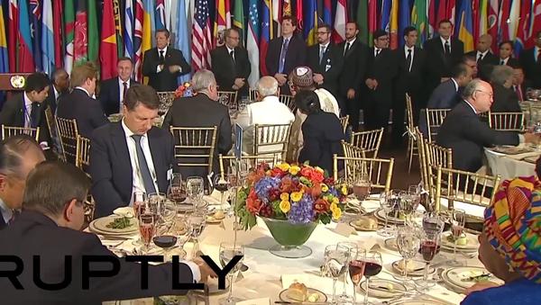 Putin, Obama a Pan Ki-mun relaxují v New Yorku - Sputnik Česká republika