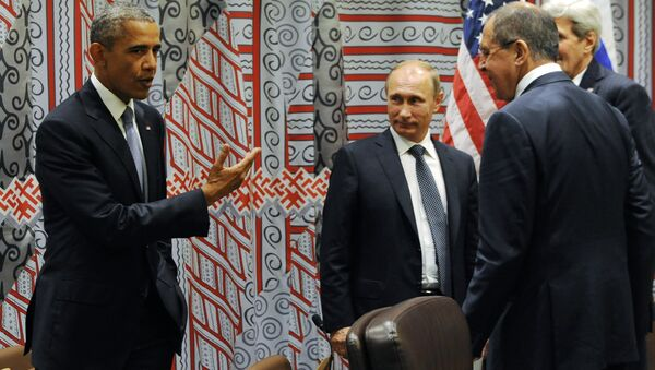 Setkání Baracka Obamy a Vladimira Putina v New Yorku - Sputnik Česká republika