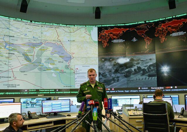 Oficiální zástupce Ministerstva obrany RF generál-major Igor Konaškov