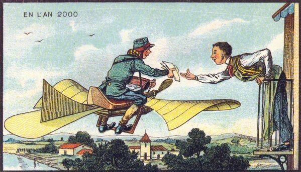 Létající pošťák. Určitě by vydělával více než nynější listonoši. A neměl by žádné problémy se psy, snad pouze s létajícími - Sputnik Česká republika