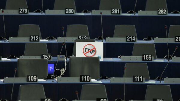 Štítek v Evropském parlamentu - Sputnik Česká republika