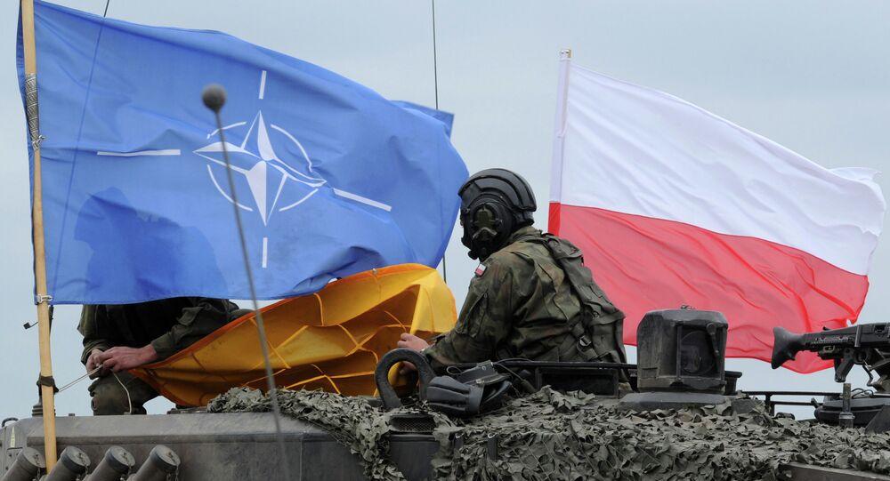 Polský voják během cvičení NATO