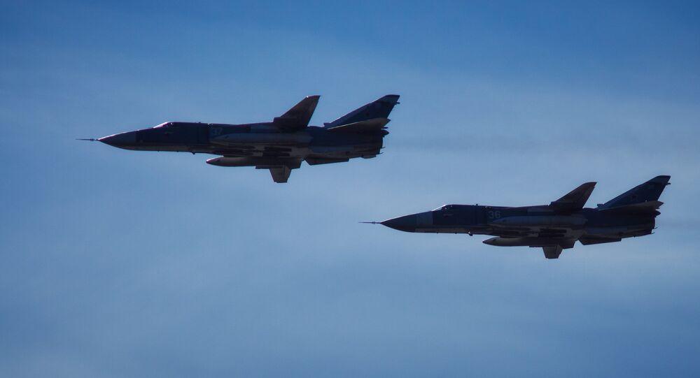 Bombardéry Su-24M ruských vzdušných a kosmických sil