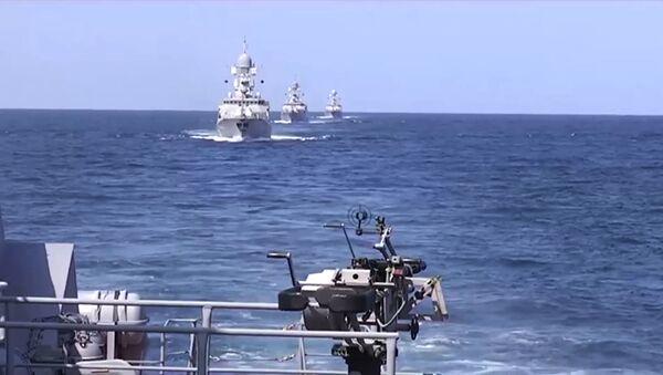 Ruské lodě u syrského pobřeží. Ilustrační foto - Sputnik Česká republika