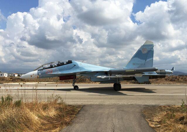 Stíhačka Su-30 v Sýrii