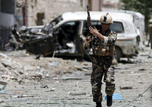 Zástupce afghánských bezpečnostních síl