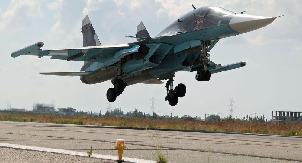 Stíhačka Su-34 v Sýrii