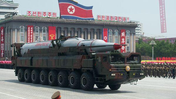 Vojenská přehlídka v Pchjongjangu. Archivní foto - Sputnik Česká republika