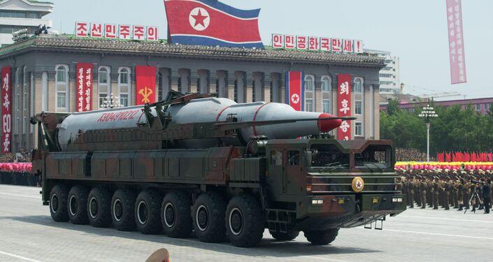 Vojenská přehlídka v Pchjongjangu. Archivní foto