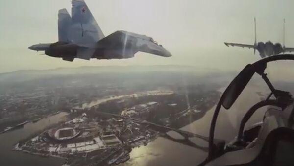 Stíhačky Su-30 budou zabezpečovat krytí letectva RF v Sýrii - Sputnik Česká republika