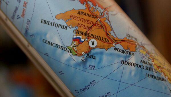 Mapa Evropy, kde je Krym součástí Ruska - Sputnik Česká republika