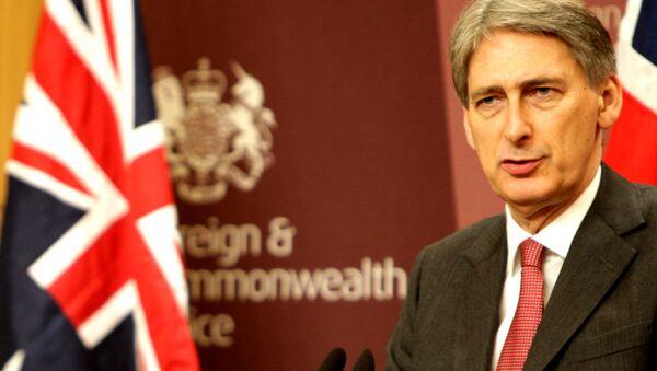 Britský ministr zahraničí Philip Hammond - Sputnik Česká republika
