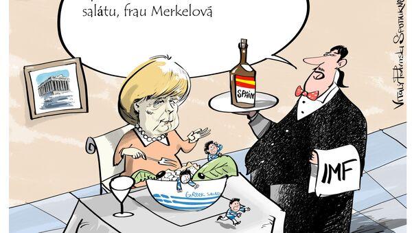 EU vs Řecko - Sputnik Česká republika