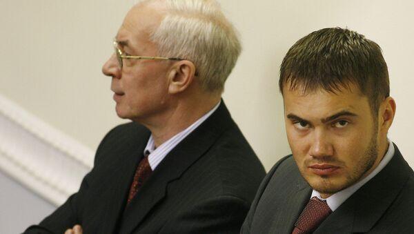 Bývalý ministr ekonomiky Nikolaj Nazarov a syn Viktora Janukoviče - Sputnik Česká republika