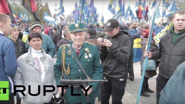 Nacionalisté uspořádali mítink v centru Kyjeva - Sputnik Česká republika