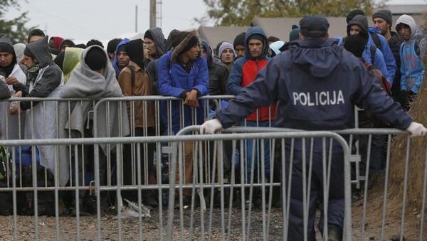 Migranti na hranici mezi Chorvatskem a Maďarskem - Sputnik Česká republika