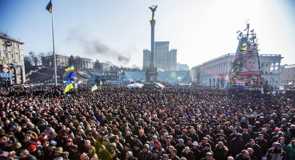 Majdan v roce 2014. Ilustrační foto