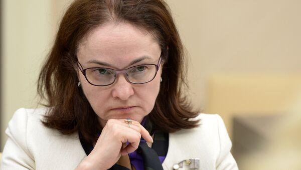 Hlava Centrální banky RF Elvira Nabiullinová - Sputnik Česká republika